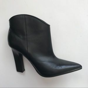 Black Leather Marc Fisher LTD Ankle Booties